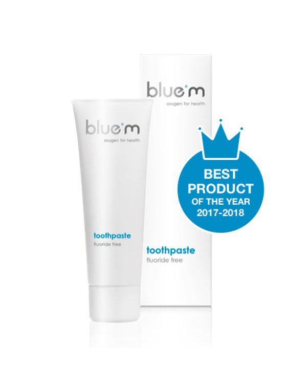 blue®m toothpaste without fluoride